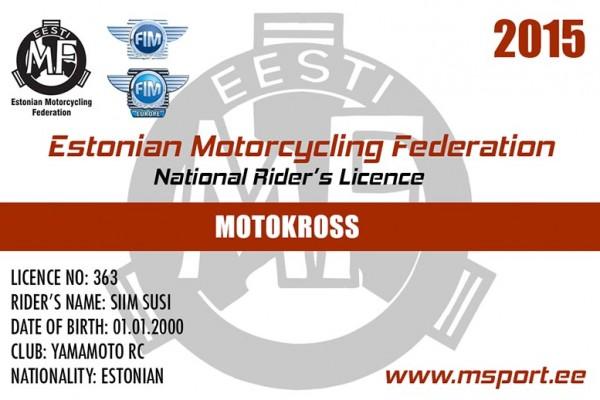 EMF rahvuslik litsents näidis