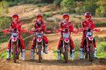 Foto (Honda Racing Corporation): Team HRC: #747 Michele Cervellin, #243 Tim Gajser, #777 Evgeny Bobryshev, #28 Chihiro Notsuka.