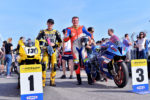 Superbike klassi kaks võitja ja kolmas koht